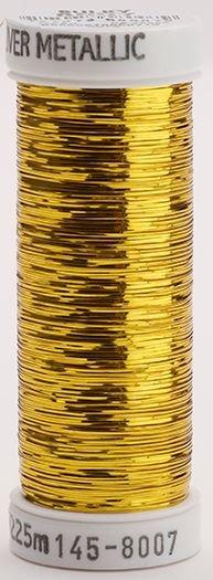 145-8007 Sulky Metallique 60% Poly 40% Polyethylene 250 yrds Sliver Gold