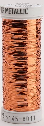 145-8011 Sulky Metallique 60% Poly 40% Polyethylene 250 yrds Sliver Light Copper