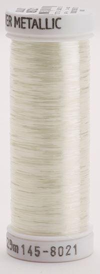 145-8021 Sulky Metallique 60% Poly 40% Polyethylene 250 yrds Sliver Clear White