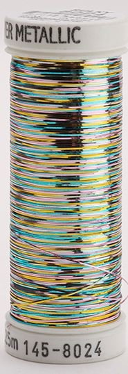 145-8024 Sulky Metallique 60% Poly 40% Polyethylene 250 yrds Sliver Multi-Color