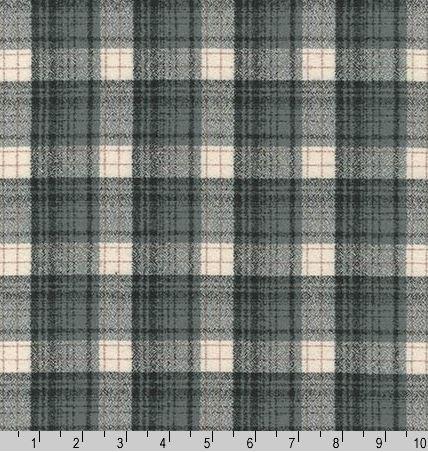 14882-293 Robert Kaufman Flannel Black Smoke Plaid