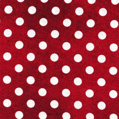 1649-21679-R QT Daily Grind Red with White Dots