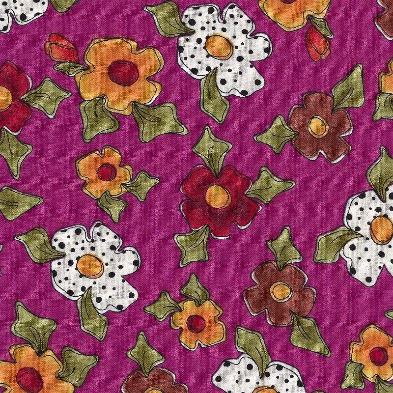 1649-21843-V Spice Cats Violet Flowers