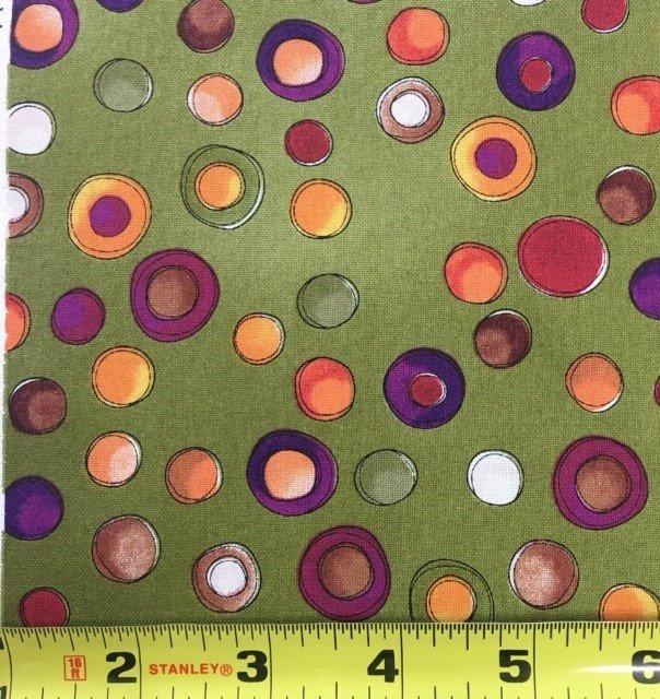 1649-21844-G Spice Cats Green Lrg Dots