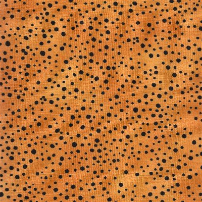 1649-21846-O Quilting Treasures Spice Cats Yellow Dots