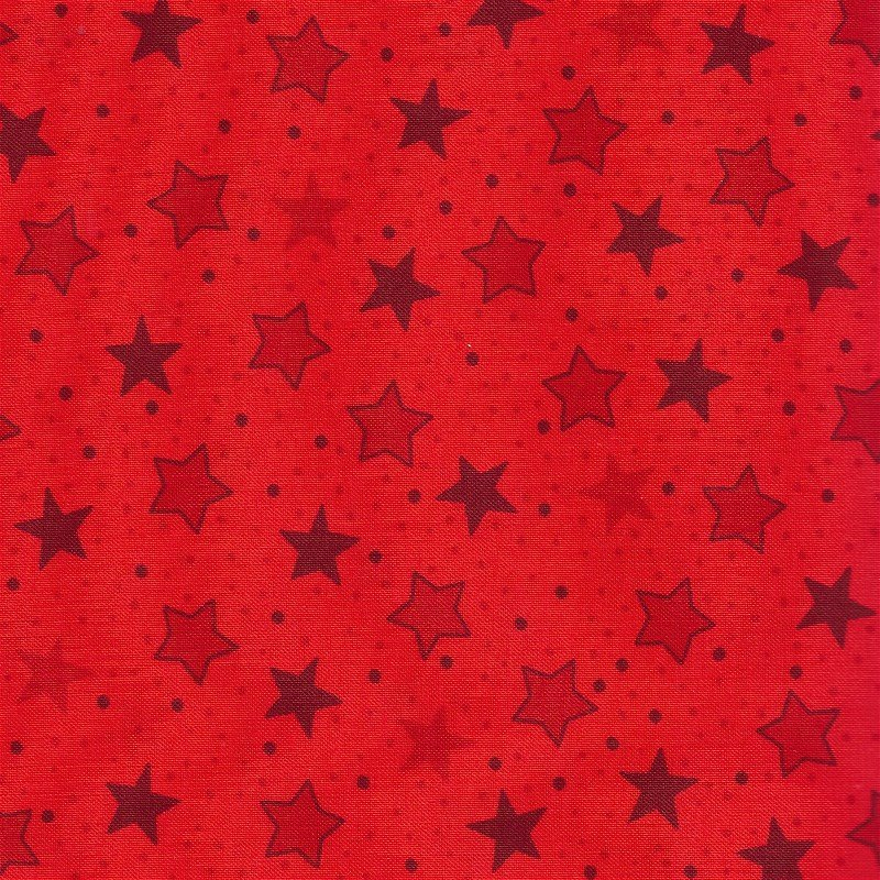 1649-22028-R Quilting Treasures Popcorn & Friends Red Stars