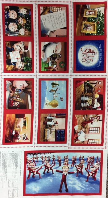 1649-22763-R Quilting Treasures Elf on the Shelf Soft Book