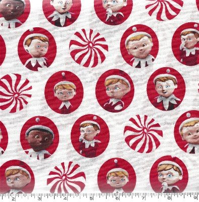1649-22766-ZR, Quilting Treasures Elf on the Shelf Red Candy