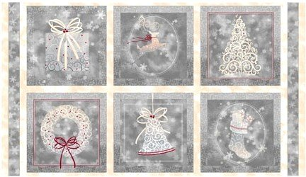 1649-23877-K, Quilting Treasures Holiday Elegance  Picture Patches