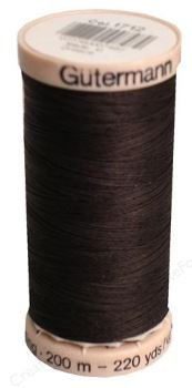 1712 Gutermann Hand Quilting Thread 220 yards Chocolate
