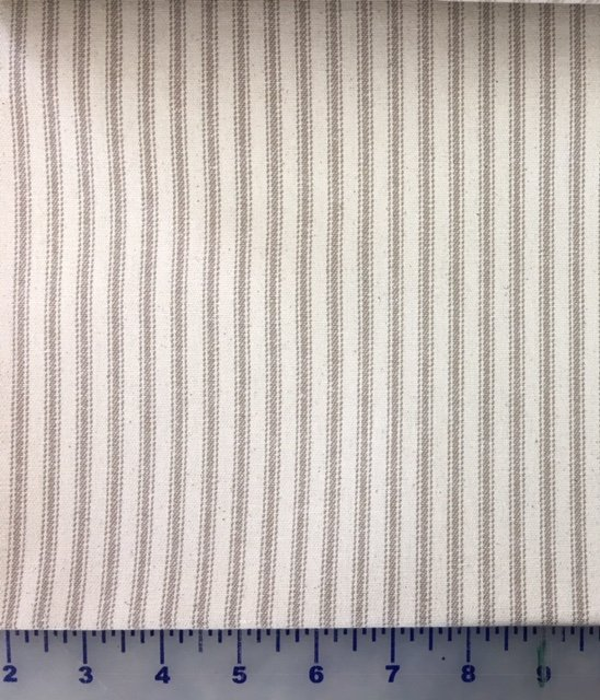 1715DS-08 James Thompson Tan Striped Ticking 44 wide