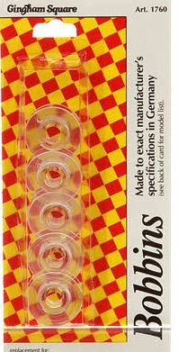 1760 Gingham Square Older Viking Plastic Bobbins