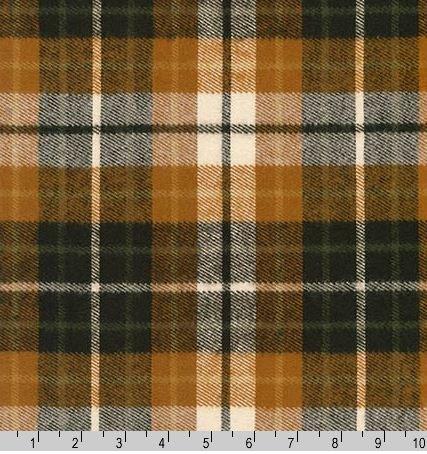 17611-342 Robert Kaufman Flannel Durango Plaid Chestnut