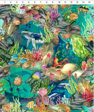 1CAL-2 In the Beginning Calypso Ocean Life Teal