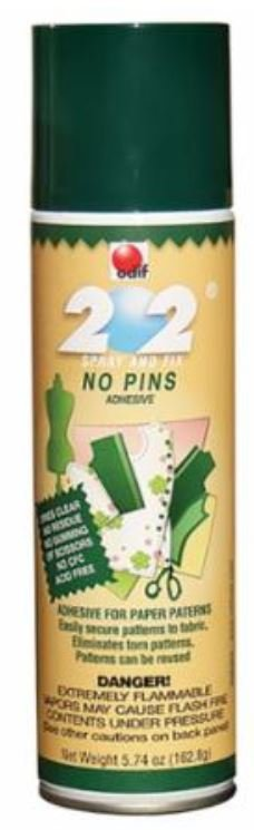 202 Spray & Fix Paper Pattern Temporary Adhesive 6oz