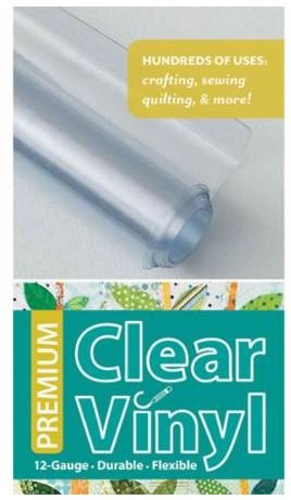 20301 Quilter's Vinyl 16 x 1.5 yards Premium Clear Vinyl from C&T Publishing