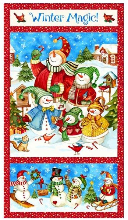 21068-42 Winter Magic Northcott Snowman Panel