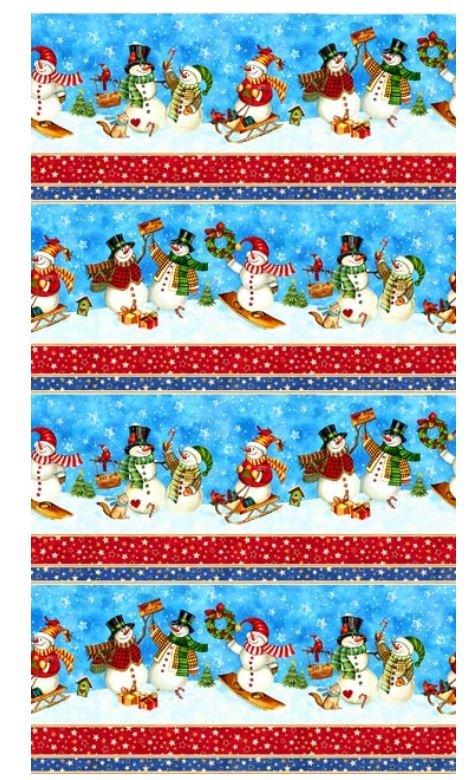 21069-42 Winter Magic Northcott Snowman Border Print