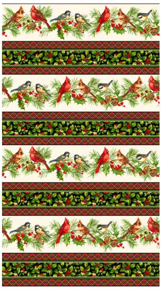 21077-11 Northcott Home for the Holidays Border Print