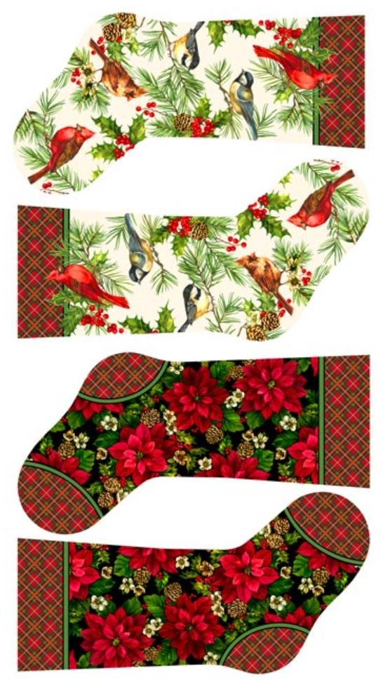 21078-11 Northcott Home for the Holidays Pre Printed Stockings