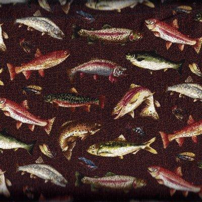 21120-36BROWN Stoney River Brown Fish