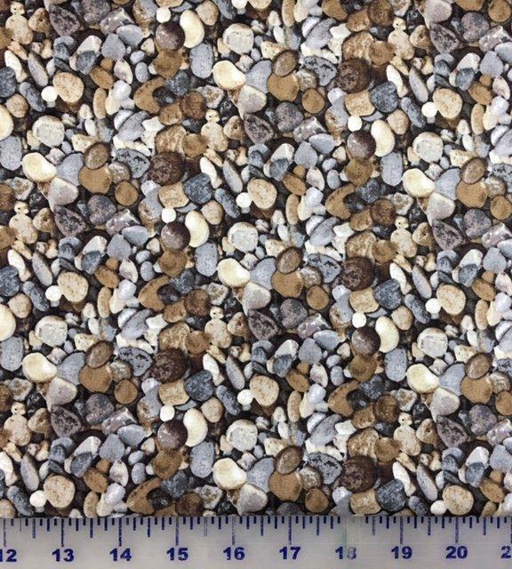 21394-93 Northcott Naturescapes Stone Rocks Grey
