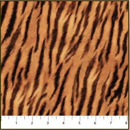 21403-52 Northcott Fields of Gold Tiger skin print