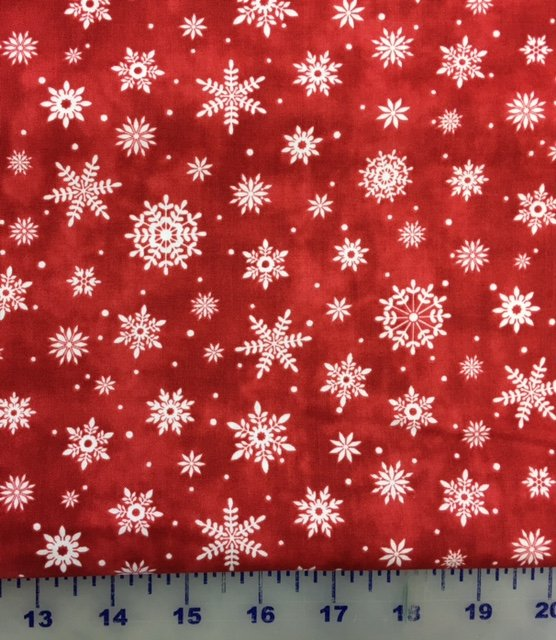21704-24, Northcott, Up On the Rooftop, Christmas, Red Snowflakes
