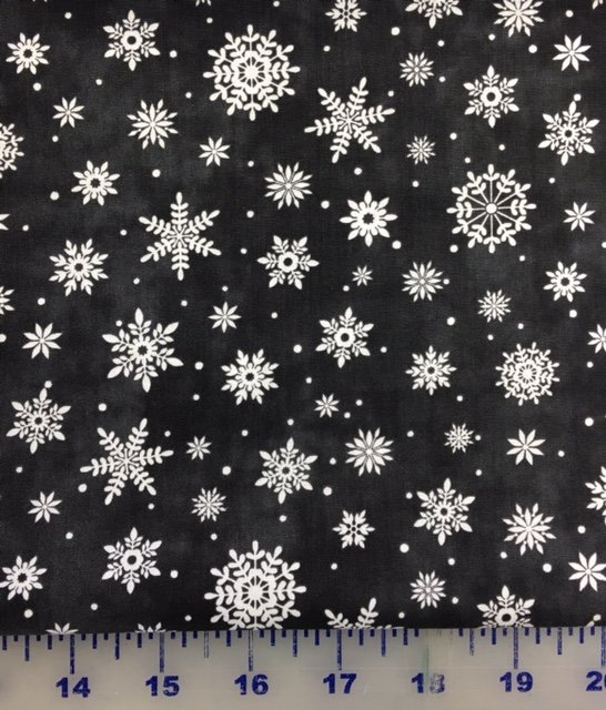 21704-99, Northcott, Up On the Rooftop, Christmas, Black Snowflakes