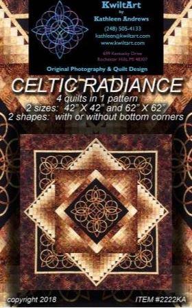 2222KA Kwilt Art Celtic Radiance 2 sizes- 42 x 42 or 62 x 62