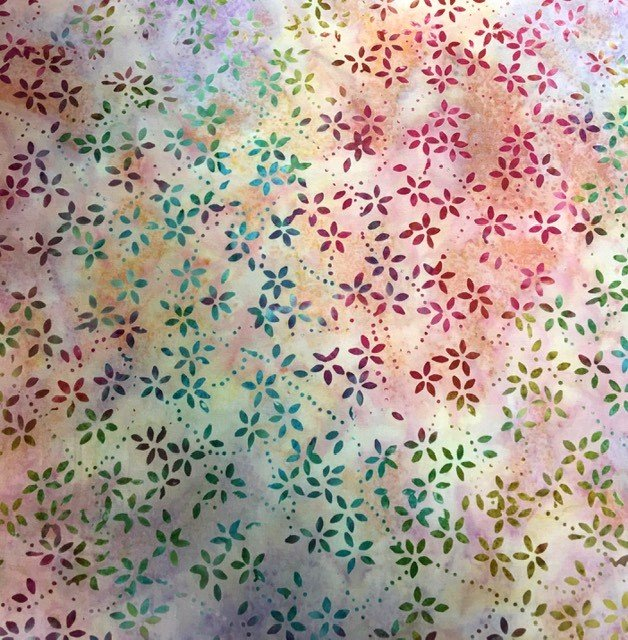 22234-653 Wilmington Batiks Star Links Multi Colors with small Flowers