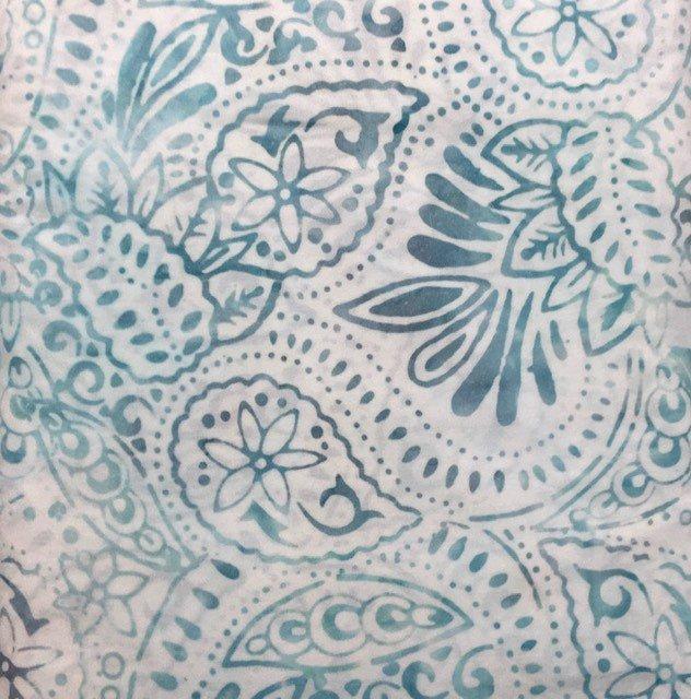 22243-140 Wilmington Batiks Log-arithm Gray with Blue fern design