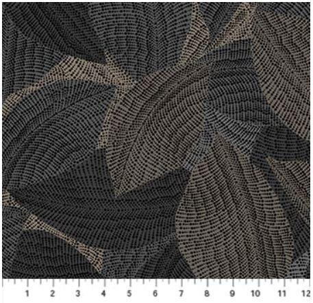 22776-99 Northcott La Dolce Vita Taupe Large Leaves