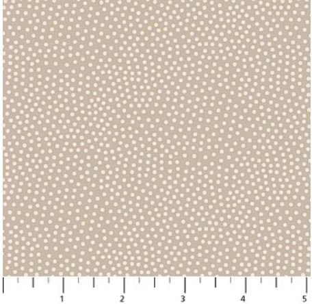 22778-11 Northcott La Dolce Vita Taupe Taupe with micro dots