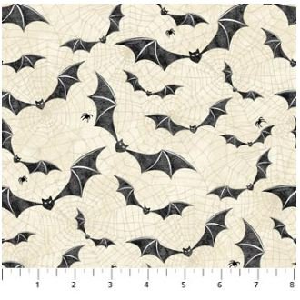 22864-12 Northcott Raven's Claw Bats with Cream Background