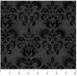 22867-99 Northcott Raven's Claw Black Motif on Black Background