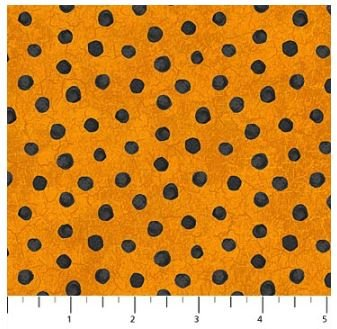 22869-56 Northcott Raven's Claw Orange with Black Dots
