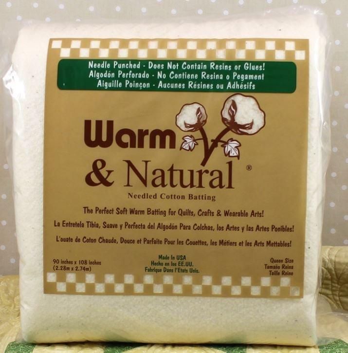 2341WN  Warm & Natural Queen 90 x 108 87.5% Natural Cotton & 12.5% Polypropylene (Scrim)