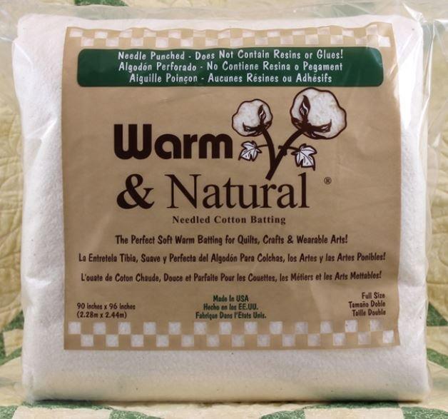 2381 Warm & Natural Full 90 X 96 87.5% Natural Cotton & 12.5% Polypropylene (Scrim)