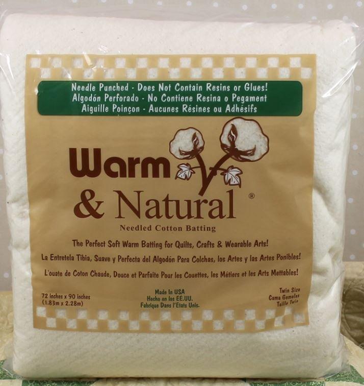 2391 Warm & Natural Twin 72 x 90 87.5% Natural Cotton & 12.5% Polypropylene (Scrim)