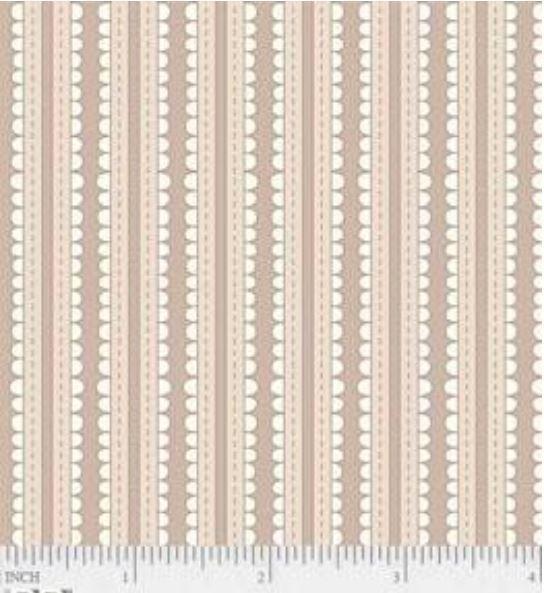 24112-TAN1 P&B Textiles Basically Hugs Fancy Brown Stripe