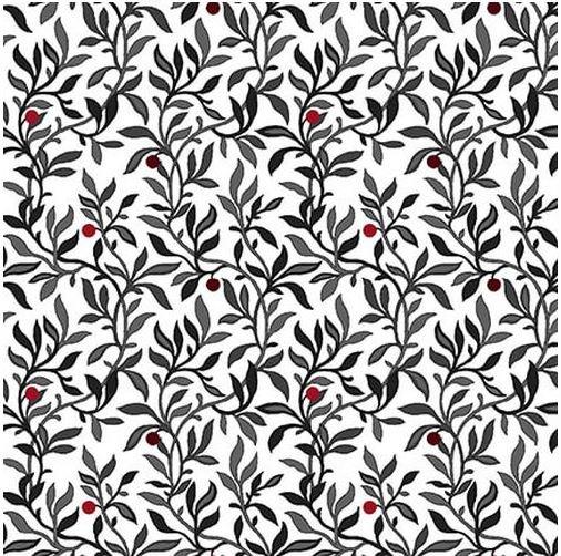 2447-1WHT, Henry Glass, Black White & Red Hot