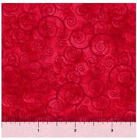 24778-R QT Harmony Curly Scroll Red
