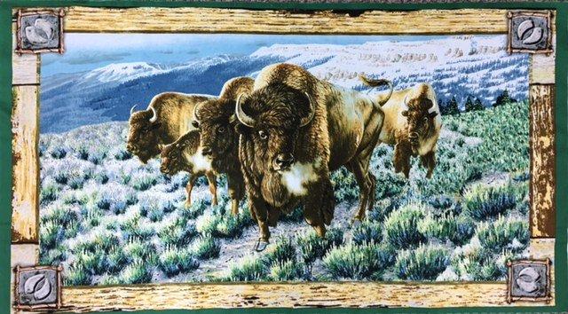 24988-X Artworks Buffalo Panel