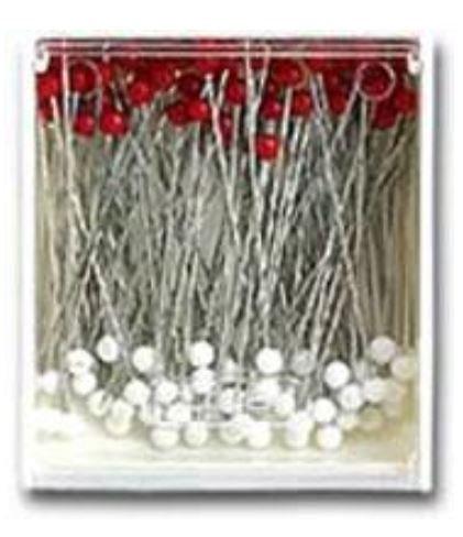 2501 Clover Silk Pins Glass Head