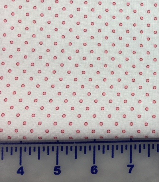 25042-PIN1 P&B Textiles Basically Hugs Cream background with Red Circle Dots