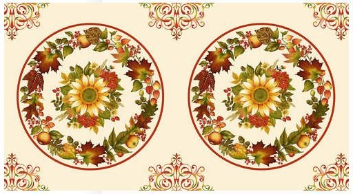 2518P-33 Henry Glass, Autumn is Calling, Placemat Panel 24 by 44