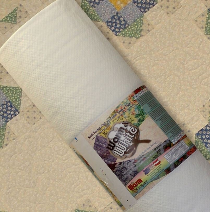 2531 Warm & White Batting 100% Cotton  90 wide 87.5% Bleached Cotton & 12.5% Polypropylene (Scrim)