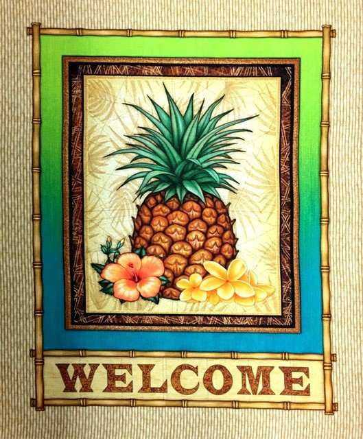 27725-A, Quilting Treasures, Postcard Paradise, Island Pleasures, Panel