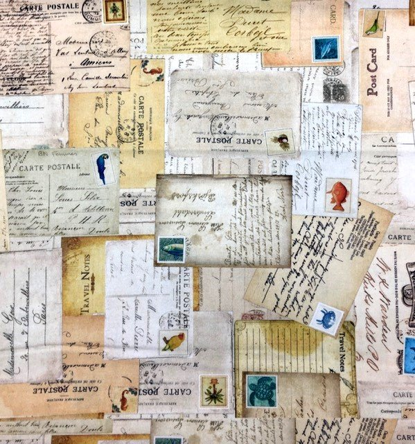 27728-A, Quilting Treasures, Postcard Paradise, Post Cards